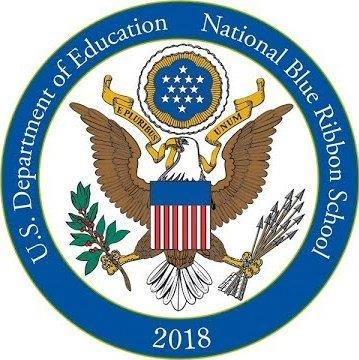 U.S> Department of Education National Blue Ribbon School 2018 Seal